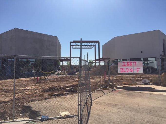 Construction at SanTan Pavilions, a new retail center
