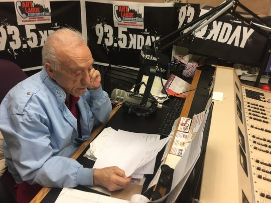 Art Laboe runs his syndicated radio show out of his studio on Desert Park Avenue in Palm Springs.
