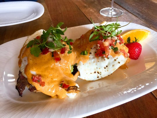 Eggs Benedict takes on a southwestern twist with the