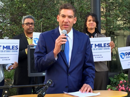 Pat Miles, Democratic candidate for Attorney General from Grand Rapids, officially kicked off his campaign on Thursday, Sept. 28, 2017 in Detroit.