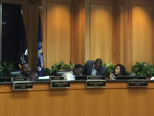Caddo Parish commissioners voted 7-5  to move discussion about an outdoor bathroom facility near the courthouse to a long range planning commission.