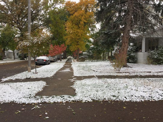 While 1.2 inches of snow accumulated in Great Falls,