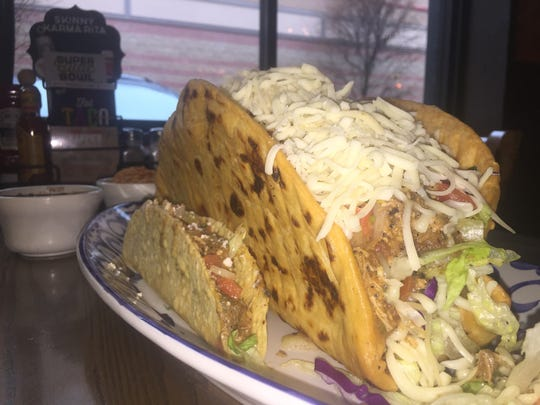 Finish this four-pound taco from Chevy's and you will win free tacos for a year.