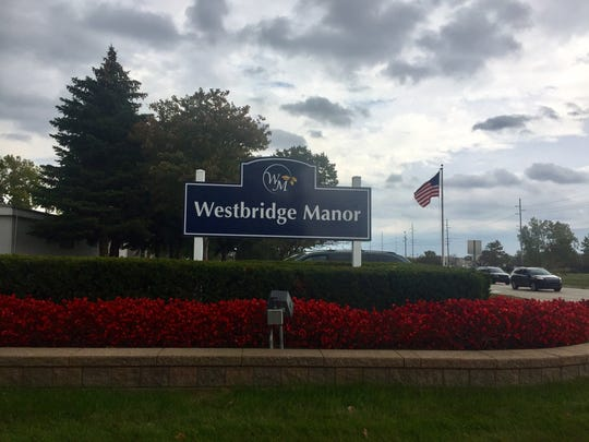 The sign for Westbridge Manor mobile home community in Macomb Township where Macomb County Sheriff's officials said Misty George and her boyfriend, Michael Welch, are accused of keeping a disabled woman in a shed and selling her online for sex.