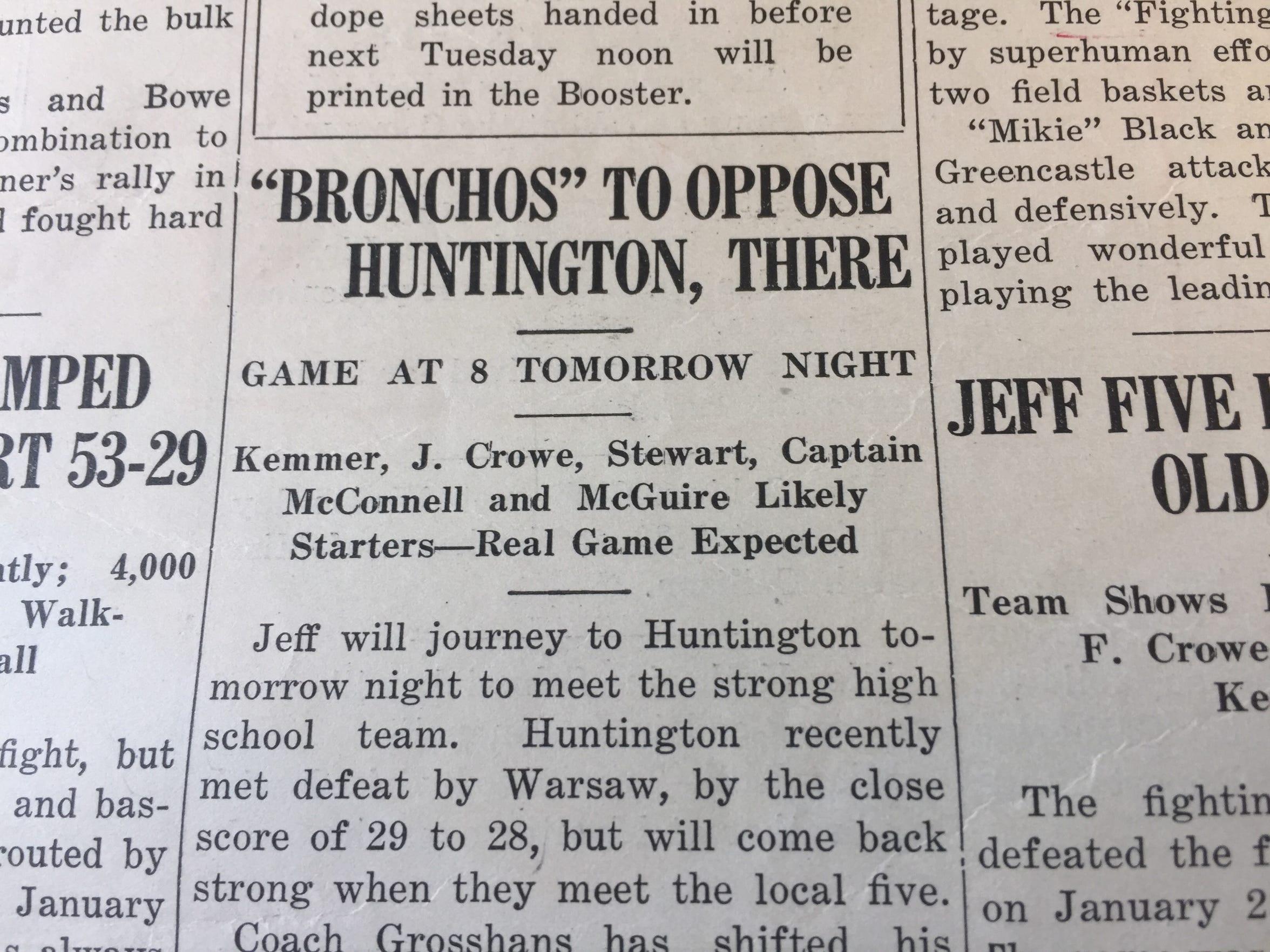 The Booster, Lafayette Jeff's school newspaper, put