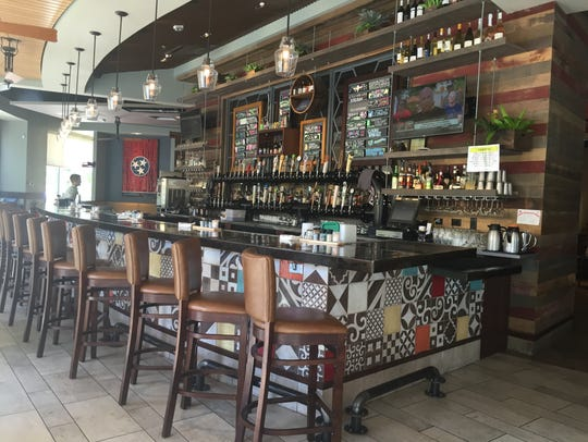 Tupelo's bar area offers an eclectic vibe as well as