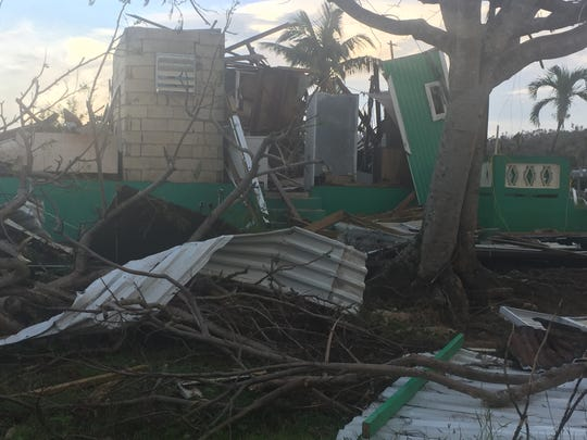 This house in the Aguadilla neighborhood of Jobos was completely destroyed by Hurricane Maria.
