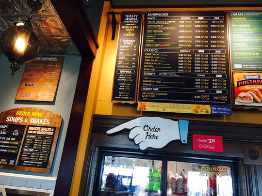Inside Fort Collins' Potbelly Sandwich Shop in Harmony Commons.