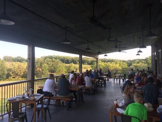 The porch at Rapid Creek Cidery.