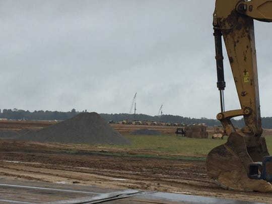 Earthwork, a major undertaking to clear and prep more than 700 acres, is 95 percent complete at the future Continental Tire plant in Bolton.
