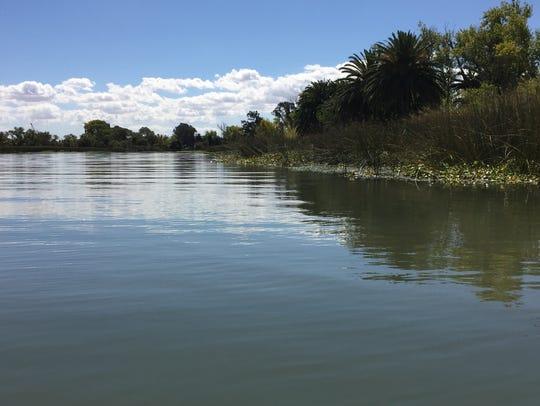 At Big Break Regional Shoreline, water flows through