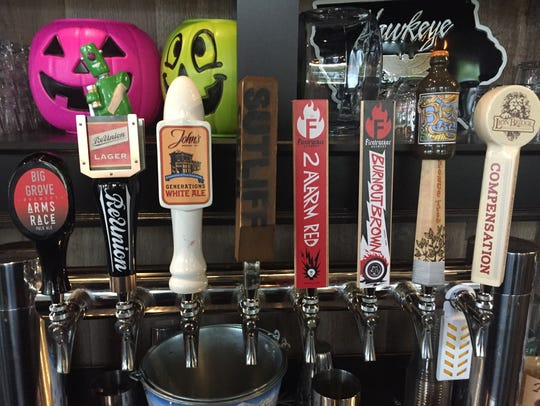 Local beers on tap at Van B's restaurant and bar on