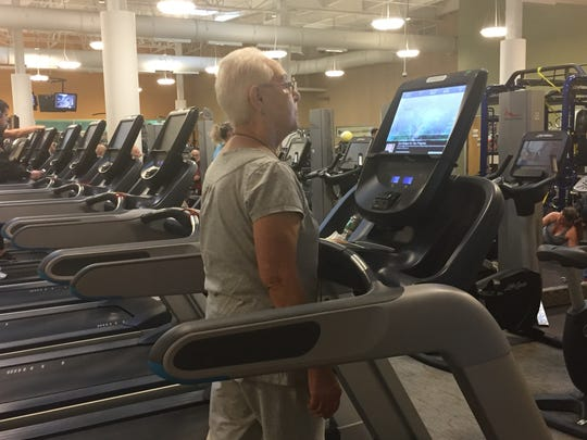 Yaffa Goozner, 78, of Freehold Township, walks on the treadmill at the CentraState Fitness and Wellness Center.