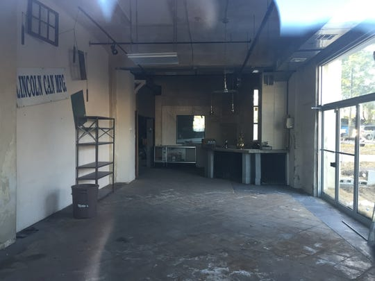 The interior 20 3rd Ave. in Long Branch. On the wall is a sign for Lincoln Can Manufacturing Co. which operated in the building in the 1990s.