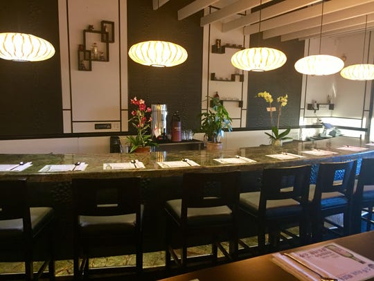 A dining bar at the new Arario Korean Fusion in Midtown