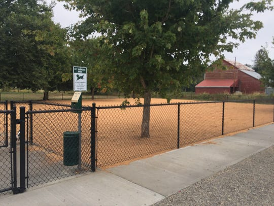 Stayton's newly opened dog park at Fourth Ave. and