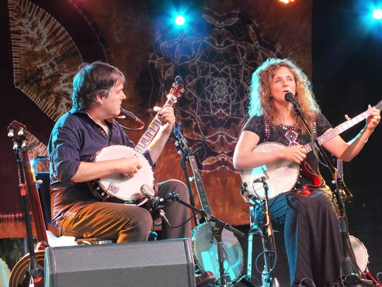 Bela Fleck and Abigail Washburn were the headliner's at Suwanee Roots Revival in 2014.