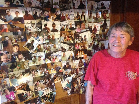 Scotties owner Willette Tillman with a collage of some