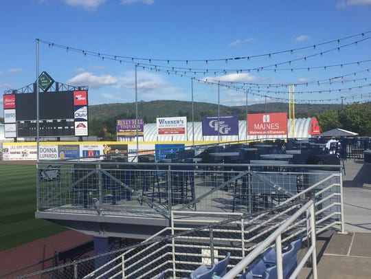 The new party deck along the right-field line at NYSEG