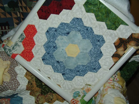 Patterns from one of Ellen Lauvray's quilts.