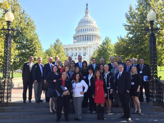 Pictured are members of the delegation who visited Washington D.C. to meet with elected officials on Hurricane Harvey relief needs and other issues.