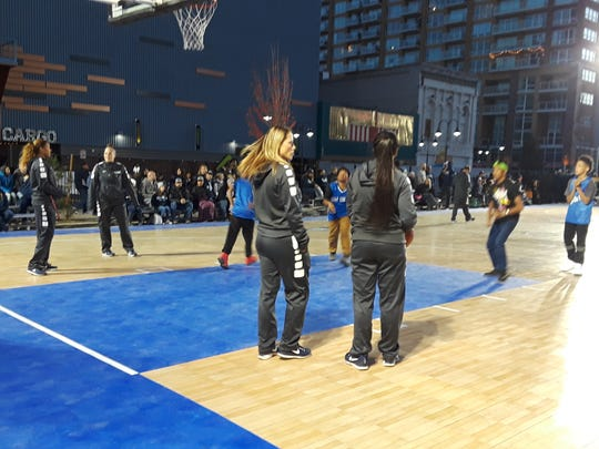 The Nevada women's team put on a clinic at Arch Madness on Saturday in downtown Reno.