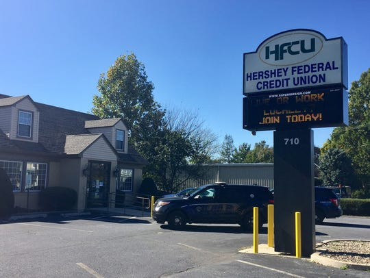 Multiple units responded to the Hershey Federal Credit