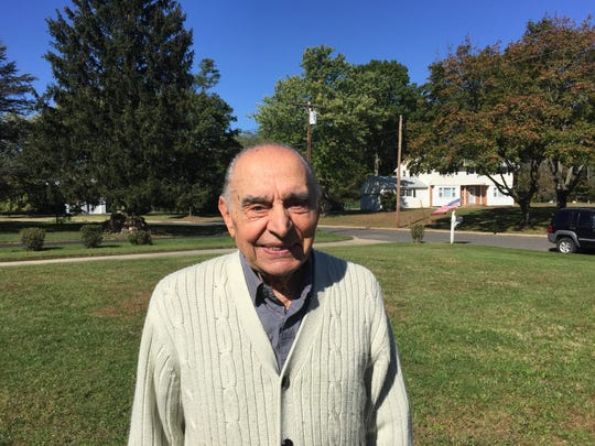 Vito Perillo pictured at his Tinton Falls home, is running for mayor.