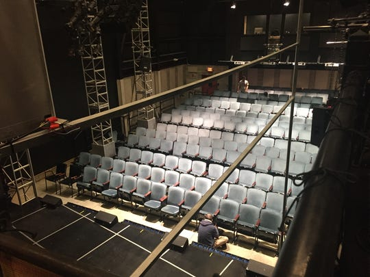 The blue seats from the Livingston Avenue theater were moved over to George Street Playhouse's new home on  College Farm Road in New Brunswick.