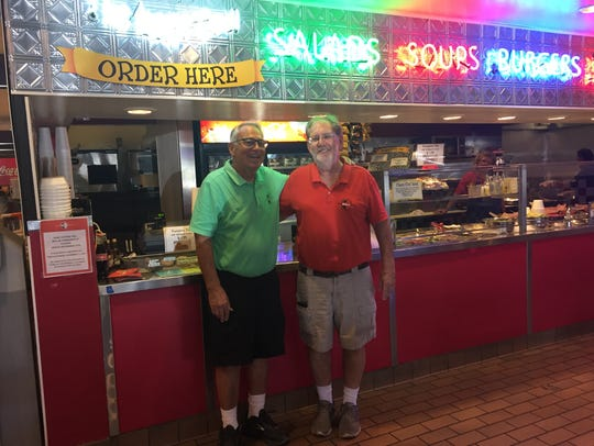 Owners of Park Central Deli, Jim Bickoff (left) and