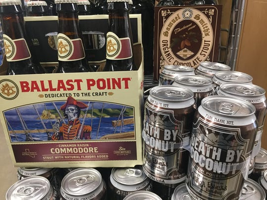 """If you're a fan of Mounds Bar (shredded coconut covered in dark chocolate), try Oskar Blues (Longmont, Colorado) """"Death By Coconut"""" porter. Jeff Baker says Ballast Point (San Diego, California) """"Cinnamon Raisin Commodore,"""" pairs wonderfully with Reese's Peanut Butter candy."""