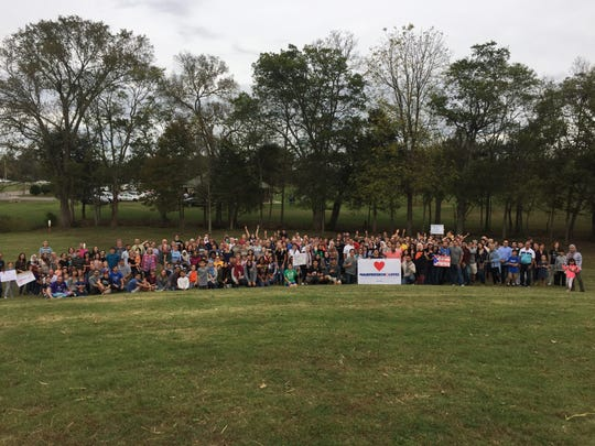The Love Your Neighbor Picnic drew hundreds to Barfield Crescent Park in Murfreesboro on Oct. 22, 2017.