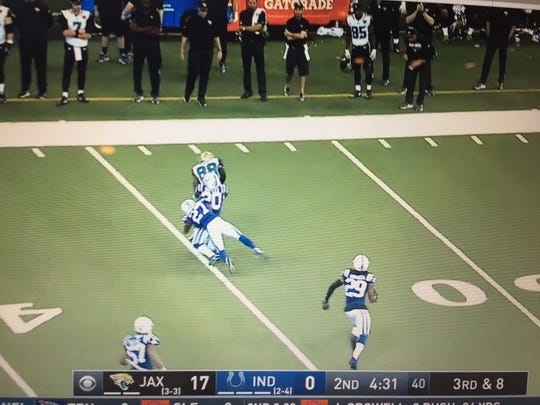 If Colts defensive backs Darius Butler and Nate Hairston had finished this tackle, Malik Hooker never would've torn his ACL and MCL a few seconds later.
