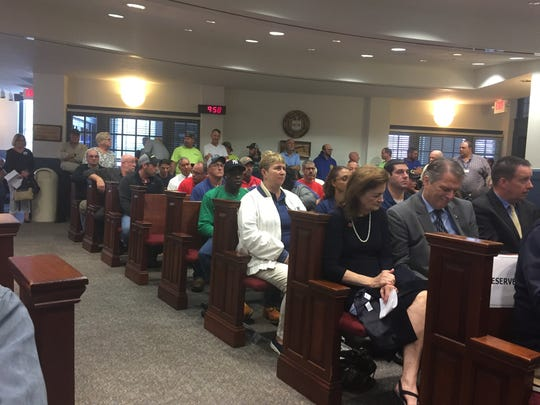 Members of the public at the Sussex County Council meeting on Oct. 24, 2017.