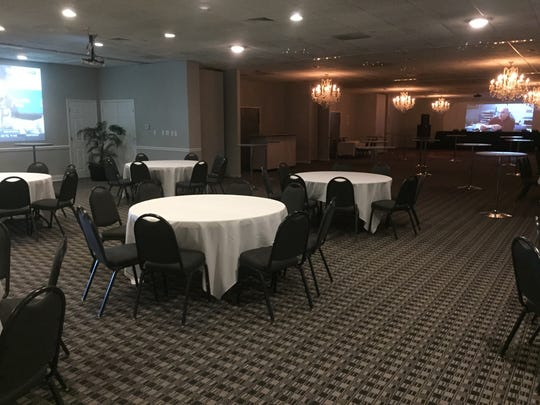 The Bistro includes a large adjoining events and reception space, complete with two projection TVs.