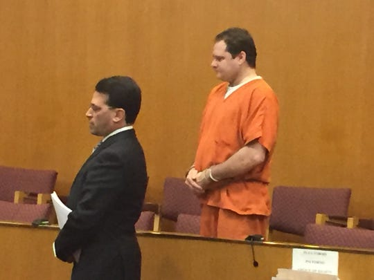 Gregory Allen Belkin at his sentencing Thursday in Oakland County Circuit Court.
