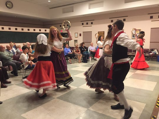 Glassboro HIgh School students perform anItalian folk
