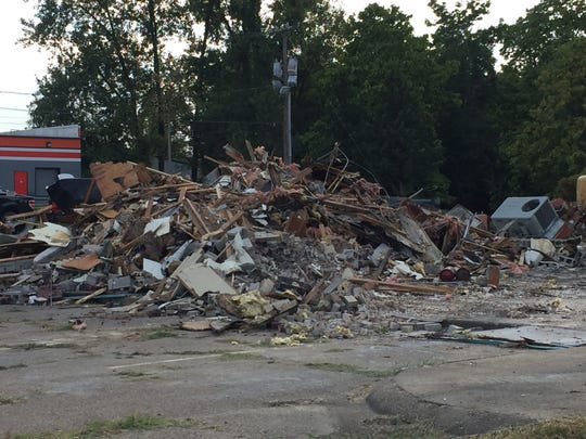 The former Shyler's building on South Green River Road was demolished recently.
