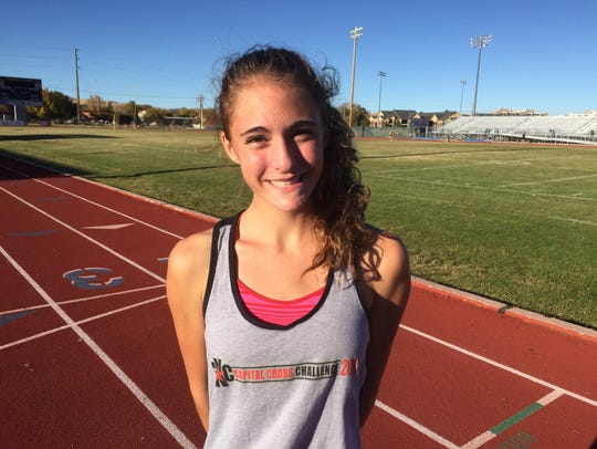 Reno freshman Penelope Smerdon repeated her performance