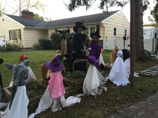 A Halloween display in Brighton thrills adults and