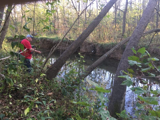 Fly fishing Crane Creek can be tough because of all