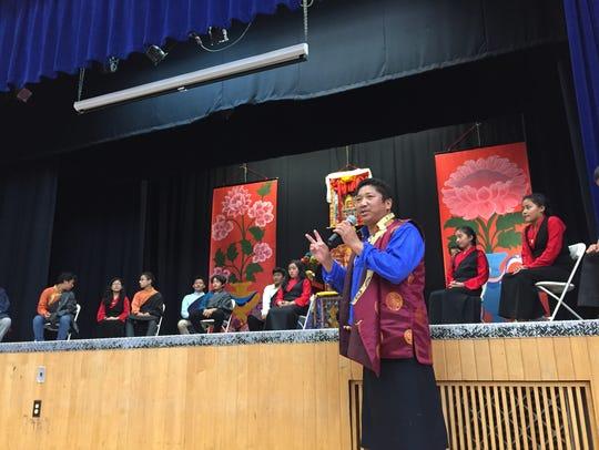 Migmar Tsering, who teaches Tibetan dance and music,