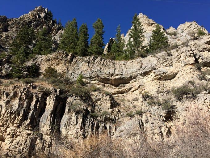 Wild geology along Beaver Creek Road in the Helena