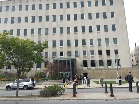 Evacuation at Hall of Justice
