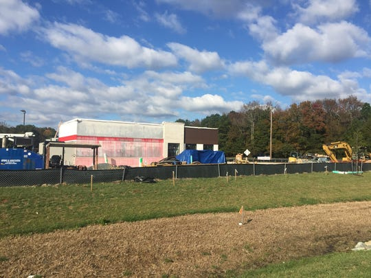 A new Arby's rises at Walston Switch Road and Route