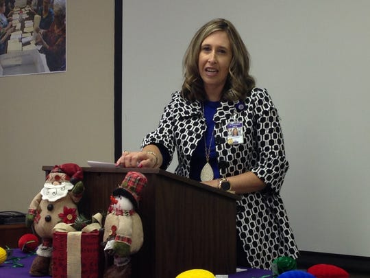 Hospice CEO Alisa Echols speaks in November 2017, about the upcoming Tree of Lights campaign. Hospice needs are growing and the center has plans to expand their in-patient facility in the future. They exceeded their fundraising goal this holiday season, raising just over $300,000 when their goal was $200,000.