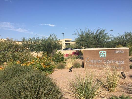 Copper Springs, a behavioral facility, located near