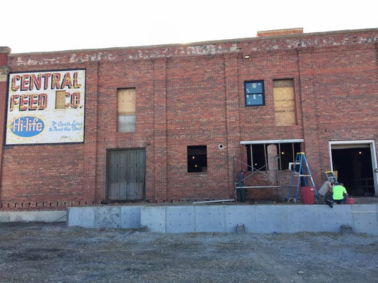 Work is underway on the new Big Spring Brewing in Lewistown across from the Yogo Inn.