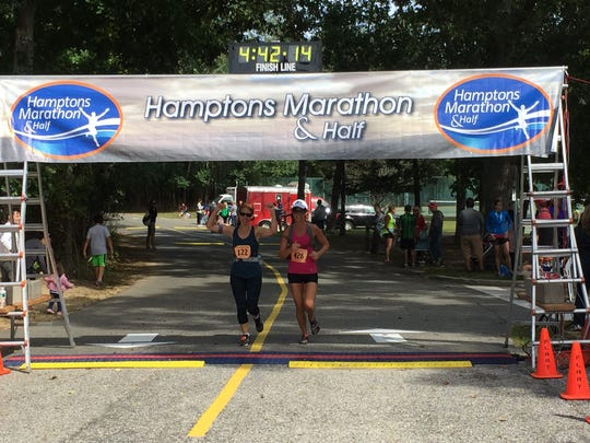 Annette Franklin of Rockaway and her friend Carmen Westbrook have completed four marathons together, including in the Hamptons.