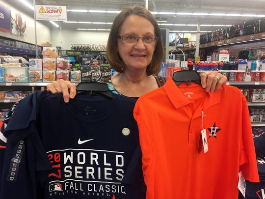 Theresa Ellis said she cried when the Astros won last night's World Series title game.